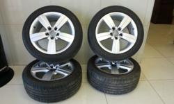 selling Audi TT rims from 2007 with tyres great
