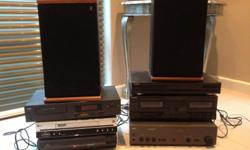 2 x AR speakers, NAD Amp, NAD CD Player, Technics