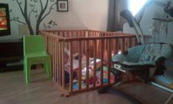 Wooden play pen 1.5m x 2m for sale. In Immaculate