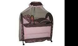 Pink and Brown Chelino 7 in 1 Baby Cot. Still looks