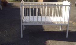 White Wooden Baby Cot for Sale. Make me an offer.