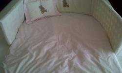 Cot set with pillow and pillow case, duvet and duvet