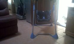 Baby mobile swing R700.00 and Bouncer R350.00 in good