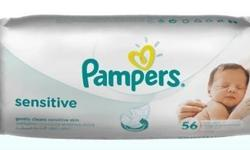 Baby wipes pampers X 12 no.s New (56 a Pack)
