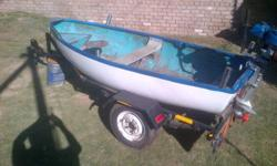Baitboat(kreef boat) with a 5hp motor. See photos. with