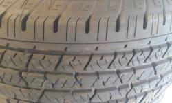 255 / 70 / R16 continental cross contact. Tyres are