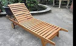 I have 2 Balau wooden patio loungers in great