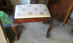 Ball & Claw - Dresser Stool - Dark Wood with