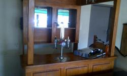 Bar - wooden in house bar very good condition no chairs