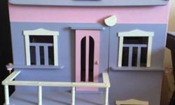 Lovely purple and pink Barbie doll house for sale with