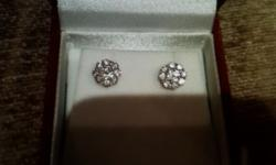 18ct white gold and diamond earings for sale Retail -