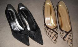Great condition One pair black, one pair brown & tan