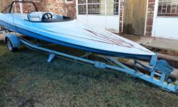Speed boat, no engine or COF. Trailer and boat in great