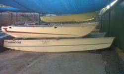 Bass boat floats. Different styles of catamaran floats