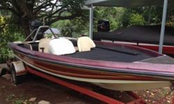 Converted bass boat with deep v lightning hull, 100HP