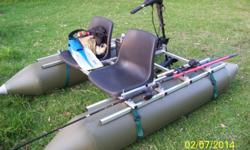 BASS PRO X PONTOON KICK BOAT -- 2 SEATER SIDE BY SIDE