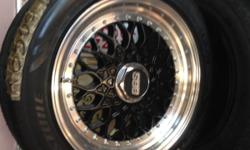 Brand new Mag wheels / Rims BBS Glos Black Reps 15 inch