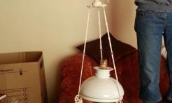 Antique lamp / light with yachts. Make me a offer