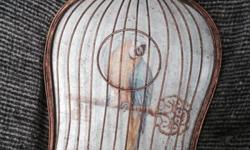 Vintage looking heavy bird cage frame stunning piece to