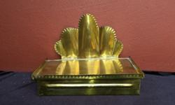 Beautiful brass holder. Could be used for letter