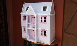 Beautiful, furnished Barbie doll house. Recently