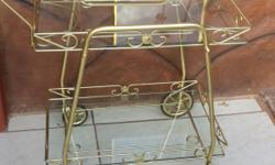 Beautiful metal drinks trolley. Don't get excited, its