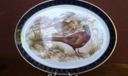 Beautiful Pheasant wall plate by Hanley, in very good