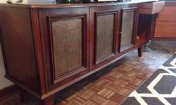 Beautiful retro server / sideboard with copper inlay