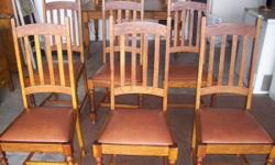 Got these six chairs for sale. Made from solid oak and