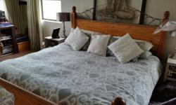 Solid wood Beautiful Extra length King Size Bed