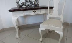 Stunning techniqued emboya dressing table with matching