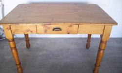 Got this very nice solid oregon pine desk/table for