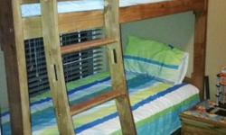 I have a wooden bunkbed for sale. It has been treated