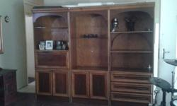 Beautiful 3 piece wooden wall cabinet for sale in good
