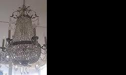 Beautifull large Chandelier - comes with 2 wall units