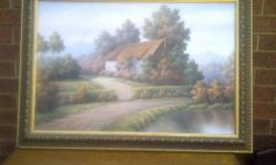 Beautiful oil painting moved to small home have no