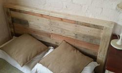 eco-chiclook made from re-cycled wood. Double headboard