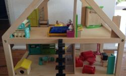 Real wooden dollhouse by Beeboo, still in good