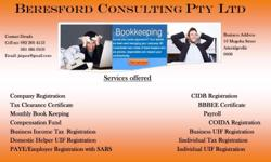 We offer the following services at affordable fees CIPC