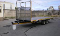 Bhagat heavy duty double axle trailer, good condition.