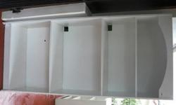 Large bookcase, painted white. Can be used for