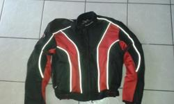 black and red bike jacket with padding large R500