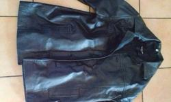 Black Leather Jacket. Excellent Condition.
