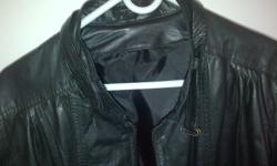 Genuine black leather jacket for sale in brand new