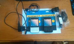 I'm selling 2 Blackberry Q5's with: chargers, stereo