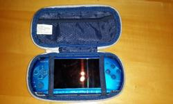 A blue psp in great condition. It has no software or