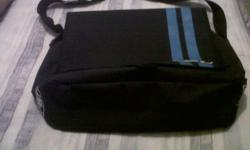 1 x blue Navy with Turquoise stripes FBT satchel bag