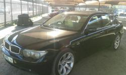 "2004 BMW 745i. 20"" MAGS. FULL HOUSE. BLACK. R135000."