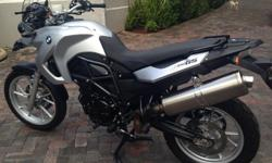 bmw f 650 twin silver ex commuter cheap on petrol abs&