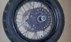 BMW F800GS Rear wheel (incl sproket and brake disc)